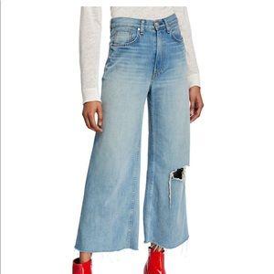 Rag & Bone Ruth Super HighRise Ankle Wide Leg Jean
